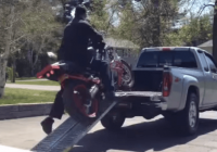 Loading motorcycle fail – A guide on how not to do it!