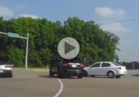 Idiot driver hits brand new Corvette and Jeep Cherokee!