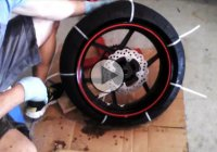 Motorcycle tire removal from Rim – using Zip Ties only!
