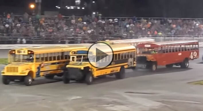 school bus figure 8 race