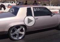 Sleeper Chevrolet Iroc on 22″ chrome wheels running 9's!!