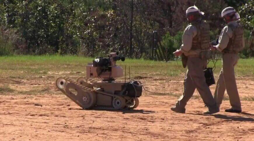 Robots With Machine Guns