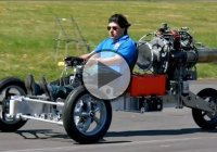 Jet Turbine Powered Trike – The Krad Vehicle!