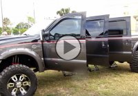 6 Door truck – we all want this custom Ford F250 Harley Davidson!