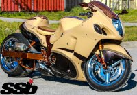 Copper Hayabusa – a bike that features real US mint pennies