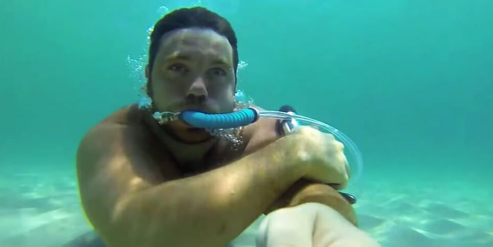 DIY Underwater Breathing Device