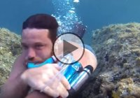 Incredible DIY Underwater Breathing Device!
