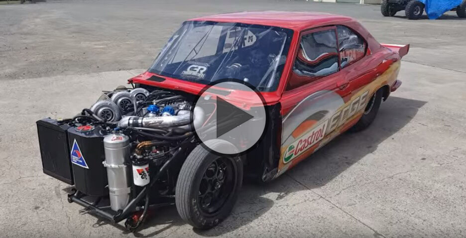Insane Mazda RX-2 With a Quad-turbo Four-rotor Engine!