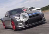 GT-R crash at 218mph!!! 2000HP can be too much to handle!