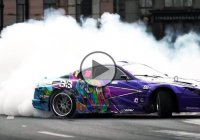 Awesome Supra street drift and an epic burnout – Must see!!!