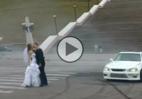 Lexus drift as a part of one couple's wedding ceremony!