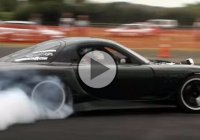 Mad Max RX-7 skid car – crazy drifting and fire!!