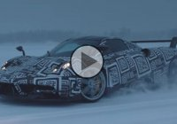 Pagani Huayra drift on frozen lake and sub-zero temperatures!