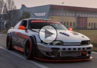 S14 drifting – this turbocharged Nissan Silvia S14 means business!