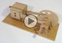 How About That – A Wooden Engine Powered By Compressed Air!