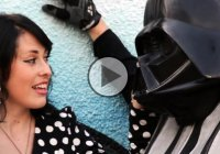Darth Vader motorcycle helmet to rule the galaxy (open road) with!