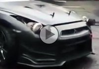 A ludicrous Nissan GT-R with turbos instead of headlights!