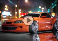 Rocket Bunny Supra virtual tuning art in Photoshop!