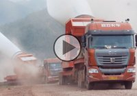 C&C Trucks Carrying Wind Turbine Blades To a Mountaintop!