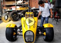 Boss Hoss trike is powered by the biggest engine ever seen!