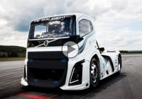 Fastest truck in the world -The 2,400 HP Volvo 'Iron Knight' in action