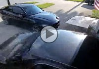 Epic drifting fail! Maybe next time don't drift your way into your garage?