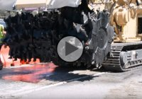 Tesmec 1150XHD Rock Hawg Concrete Pavement Breaking Machine In Action!
