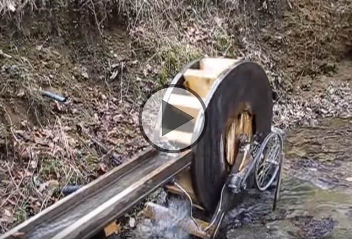 Homemade Water Wheel Generator For Free Electricity