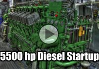 This Is How a 5,500Hp Diesel Engine Startup Looks Like!