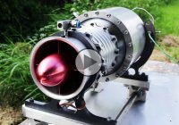Axial flown model jet engine – The first one in the world!