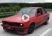 BMW E30 drifting on the highway! Risky, but ton of fun!