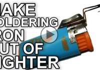 How to make soldering iron out of a copper wire and a lighter?!?