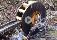 Water wheel generator is powering an entire house in Kentucky!