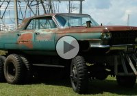 'The Deuce Deville' – Extreme And Unusual Rat Rod Cadillac!