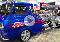 """EQUADOLINE"" – A 1962 Ford Econoline With 4 Supercharged V8 Engines And 4,000 Hp!"