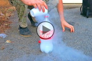 Liquid Nitrogen Into a Plastic Bottle