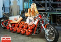 Chainsaw powered motorcycle – The two-wheels madness in a nutshell
