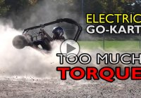 Electric Go Kart with 54 lb-ft is an uncontrollable beast!