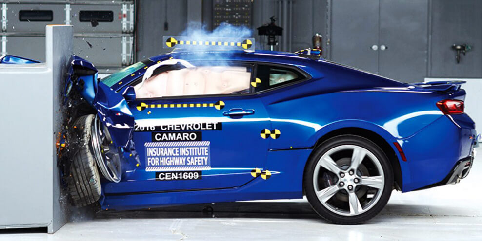 Muscle car crash test