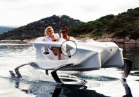 Quadrofoil is a futuristic, ecologically-sound electric hydrofoil