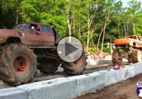 CHEVY vs DODGE Mud Trucks – The Ultimate Tug Of War!