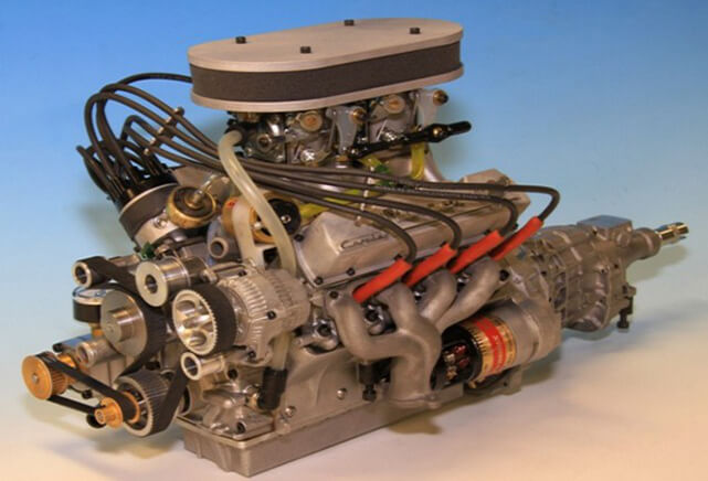 These Guys Built A Working Miniature V8 Engine Model From Scratch
