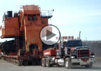 The Biggest Hauler In The World – Mammoet Fort McMurray Moves a Complete EX5500!