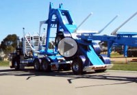 Folding Log trailer is a highly efficient engineering masterpiece