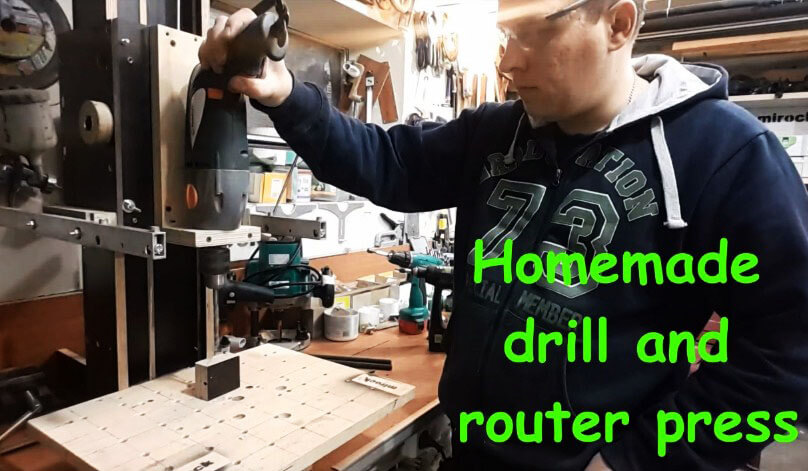 Homemade drill and router press